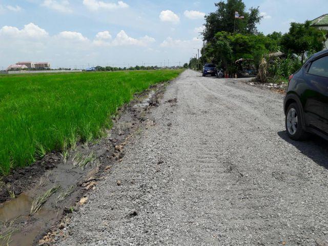 ขายที่ดินเปล่า  4 ไร่2งาน68ตารางวา ถนนไทยรามัญ ใกล้ด่วนจตุโชติ เดินทางสะดวก ออกสายไหม ลำลูกกา มอเตอร์์เวย์ สะดวกมาก