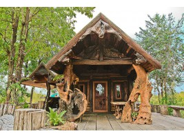 ขายที่ดินพร้อมบ้านไม้ ติดแม่น้ำแควน้อย อ.ไทรโยค จ.กาญจนบุรี