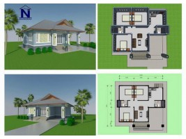 ขายบ้านเดี่ยว โครงการบ้านนับดาว 3ห้องนอน 2ห้องน้ำ ต.บ้านดู่ อ.เมือง จ.เชียงราย