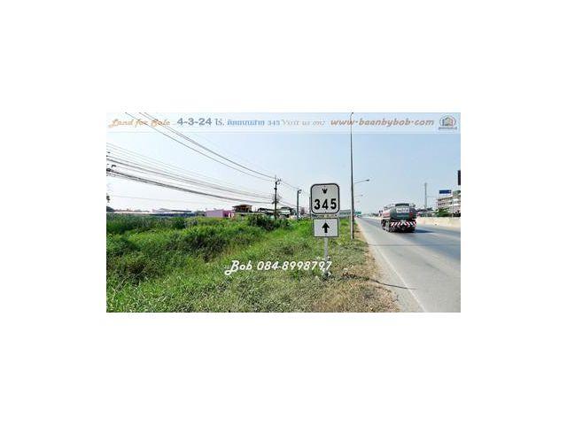 ขาย ที่ดินแปลงสวย นนทบุรี ติดถนนสาย 345 หน้ากว้าง 80 เมตร ลึก 110 เมตร