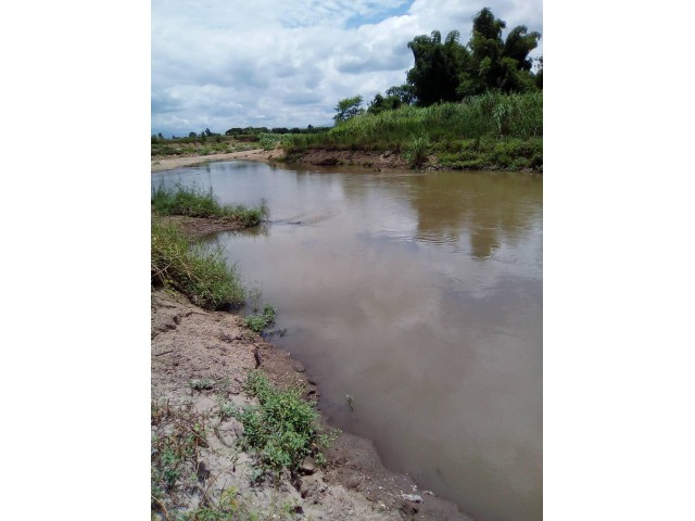 ขายที่ติดแม่น้ำ 1 ไร่ 80 ตรว. เพียง 4.2 แสน หน้าติดถนนลาดยาง อยู่ในหมู่บ้าน น้ำพร้อม ไฟพร้อม