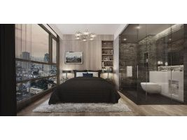 For Rent Siamese Surawong (BTS Saladang) 1 bedroom, 1 bathroom, 46 sqm 5th++ floor , City View, Unblock