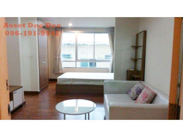 ห้เช่าด่วน  Wish @ สามย่านStudio Room TypeA 1ห้องน้ำ พร้อมครัว และระเบียง