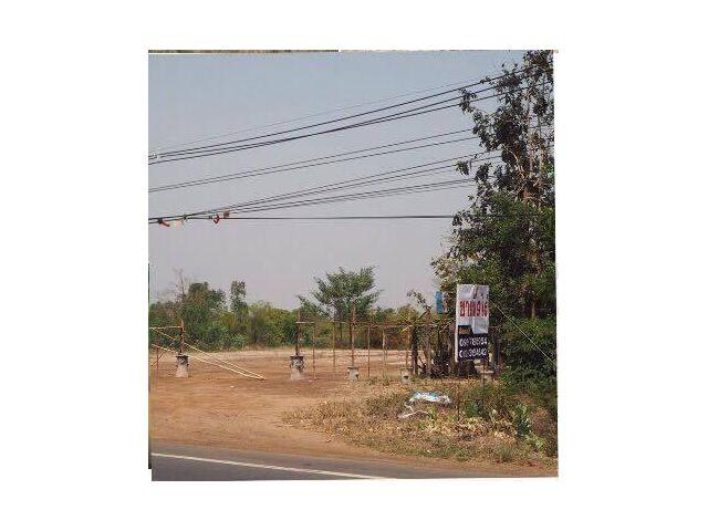 ขายที่ดินด่วนจ้า  ขายที่ดิน9ไร่60ตารางวา ติดถนนนใหญ่ร้อยเอ็ด-สุวรรณภูมิ 215 หน้ากว้าง 265เมตร
