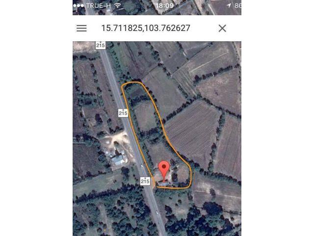 ขายถูกลดสุดๆแล้วจ้า  ขายที่ดิน9ไร่60ตารางวา ติดถนนนใหญ่ร้อยเอ็ด-สุวรรณภูมิ 215 หน้ากว้าง 265เมตร