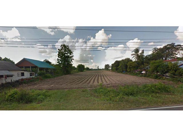 ขายที่ดิน 15 ไร่ 45 ตารางวา เส้นทางสายหลักถนน 4 เลน