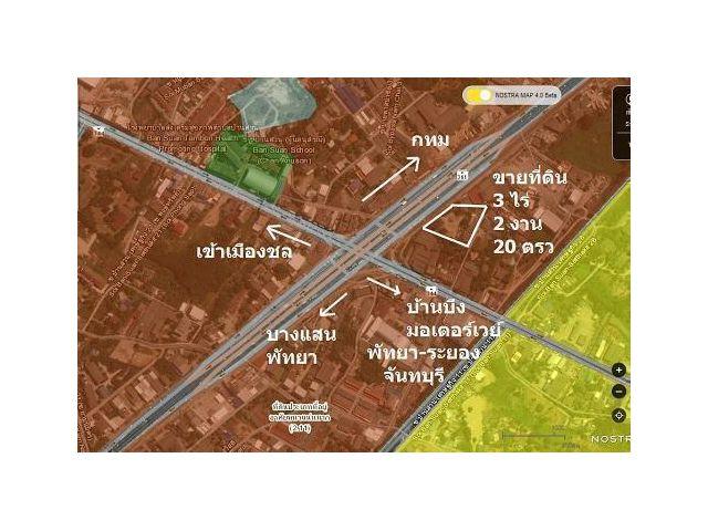 ขายที่ดิน แยกบ้านบึง-ชลบุรี, 3 ไร่ 2งาน 20ตรว
