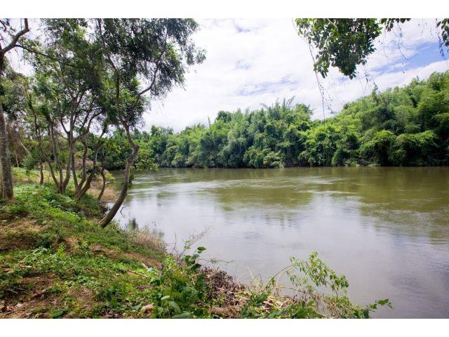 ขายที่ดินโฉนด 268 ตารางวา ติดแม่น้ำแควน้อย 42 เมตร