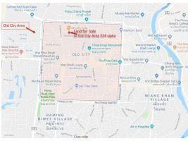 ขายที่ดินเชียงใหม่ ใน คูเมืองเชียงใหม่ 224 ตรว. พร้อมบ้านใหญ่ 2 หลัง เล็ก 2 หลัง Sale Land with 4 houses Chiangmai Old Town (Old city )Singharat soi 4