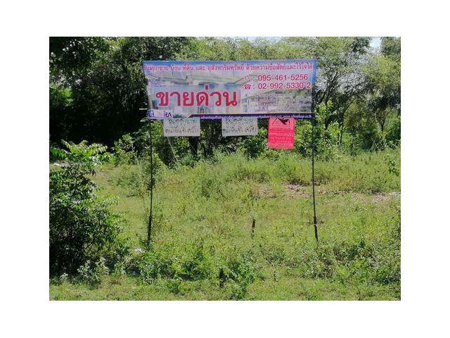 ที่ดินติดถนนทั้ง 2  ด้าน 42-1-88 ไร่   อ. บ่อพลอย  จ.กาญจนบุรี
