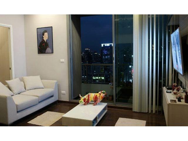ขายคอนโดหรู Q Asoke 48.5 ตารางเมตร 2ห้องนอน ติดสถานีรถไฟฟ้า MRT เพชรบุรี ห้องใหม่สวยมาก